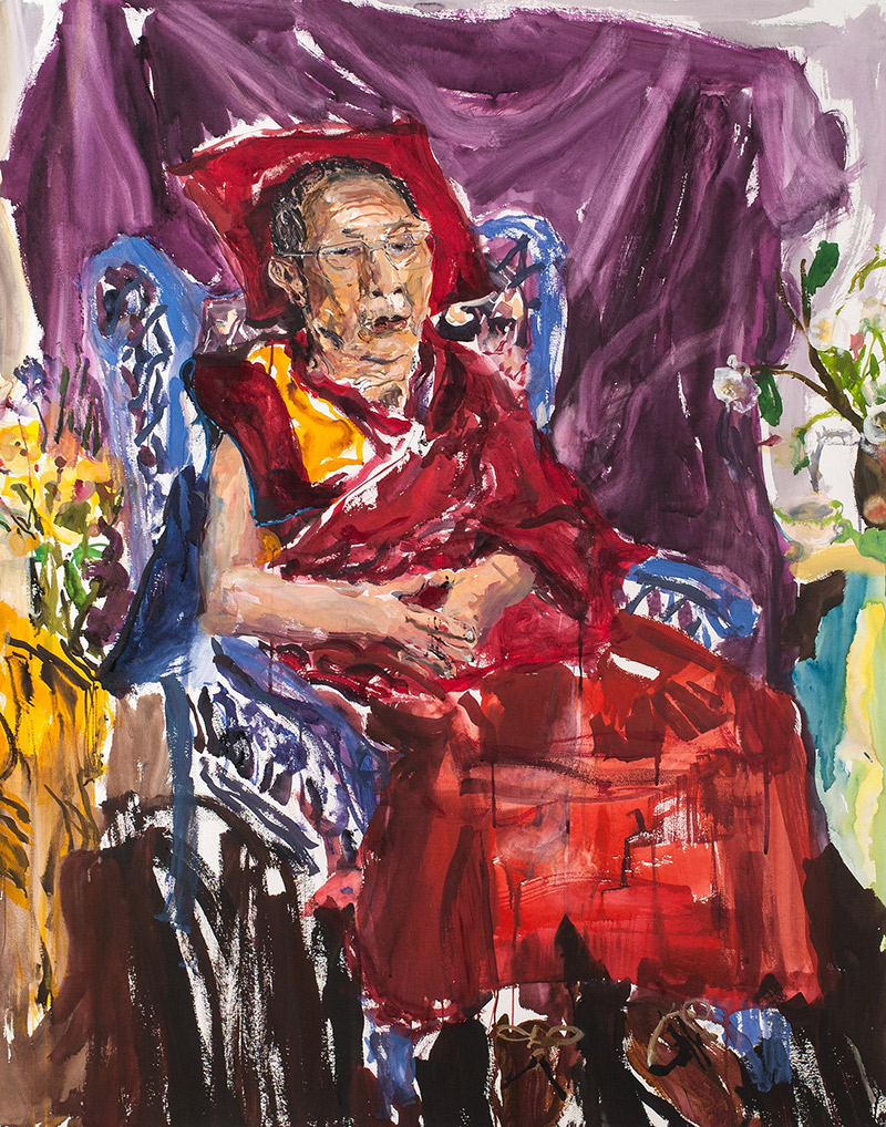 Rinpoche sitting III. 2006